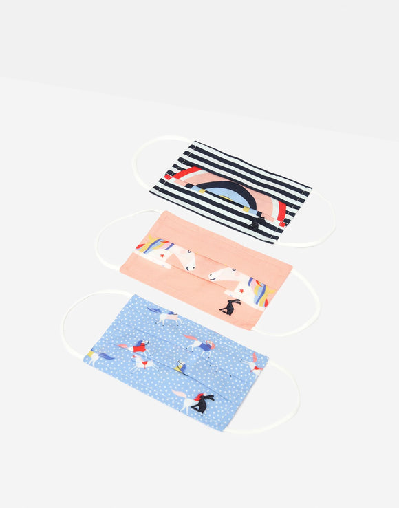 Joules Girls' Non-Medical Face Covering 3-Pack