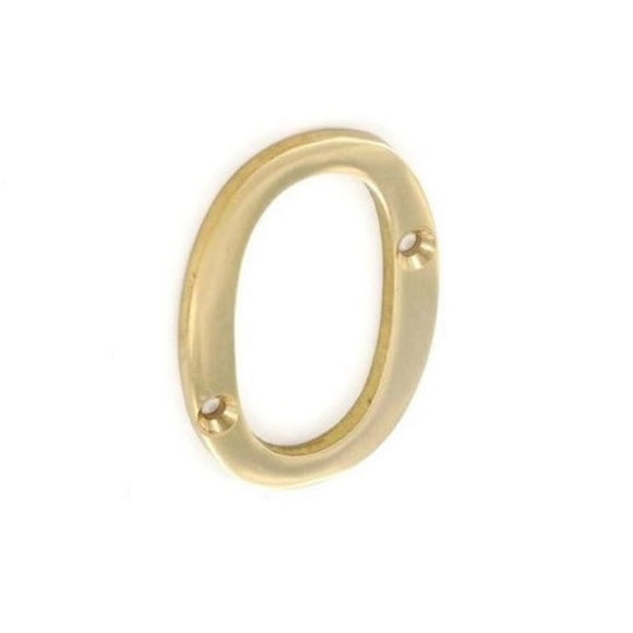 Securit Brass Numeral 0 50mm Pack Of 1