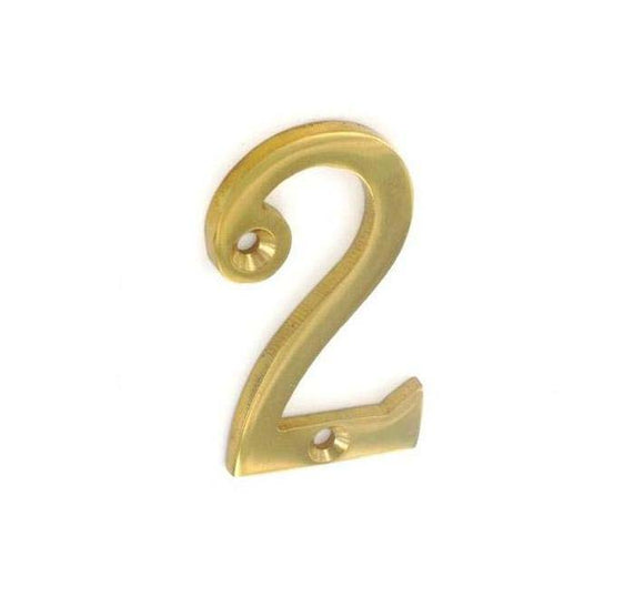 Securit Brass Numeral 2 50mm Pack Of 1
