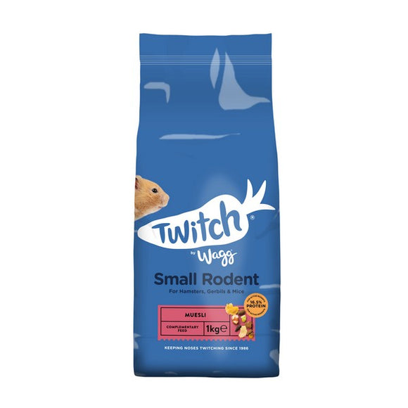 Twitch by Wagg Hamster Gerbil Small Rodent Food 1kg