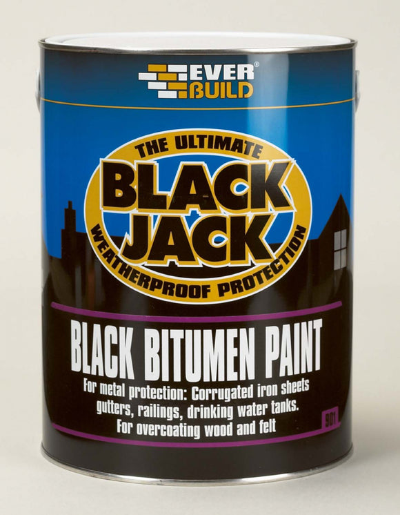 Everbuild Bitumen Waterproofing Paint Black 25L