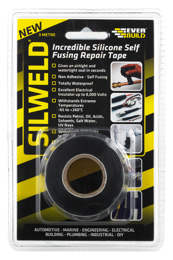 Everbuild Silweld Self-Fusing Repair Tape 3m