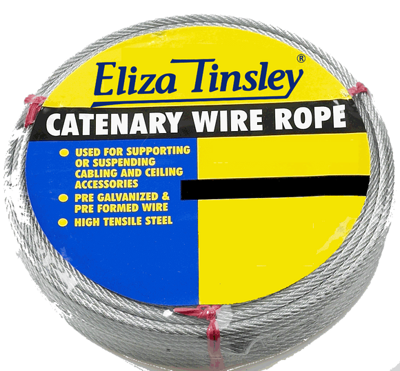 Eliza Tinsley Catenary Galvanised Steel Wire Rope 3mm x 50m