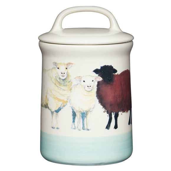 Apple Farm Stoneware Coffee Canister Sheep