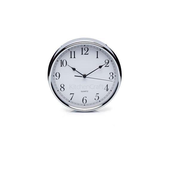 KitchenCraft Stainless Steel Clock 25cm