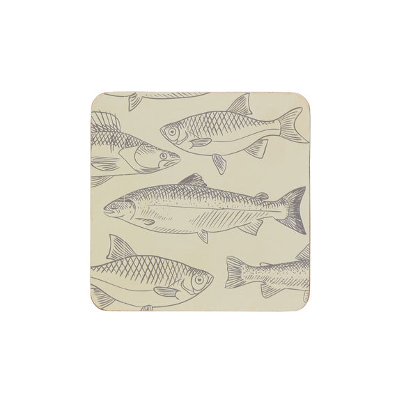 KitchenCraft Fish Cork Coasters x4