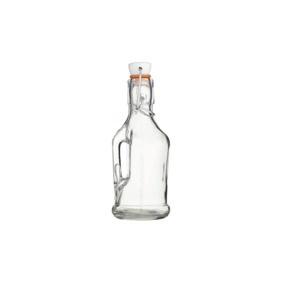 Home Made Glass Bottle & Handle 210ml