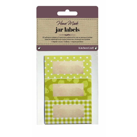 Home Made Jam Jar Labels Garden Green x30