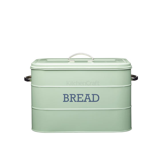 Living Nostalgia by KitchenCraft English Sage Green Bread Bin