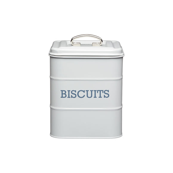 Living Nostalgia by KitchenCraft French Grey Biscuit Tin