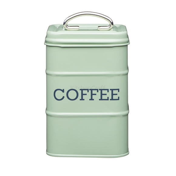 Living Nostalgia by KitchenCraft English Sage Green Coffee Tin