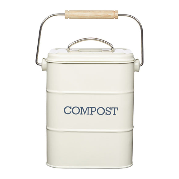 Living Nostalgia by KitchenCraft Antique Cream Compost Bin