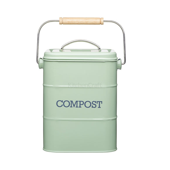 Living Nostalgia by KitchenCraft English Sage Green Compost Bin