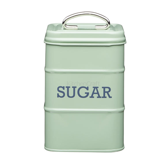 Living Nostalgia by KitchenCraft English Sage Green Sugar Tin