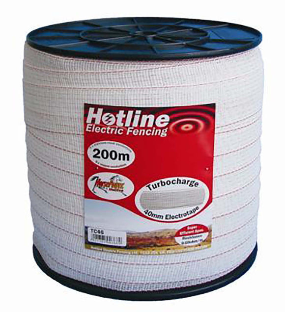 Hotline 40mm White Tape 200m