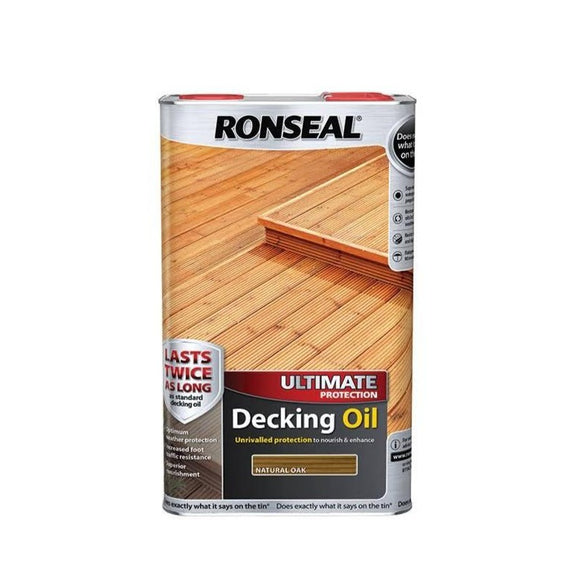 Ronseal Decking Oil Natural Oak 5L