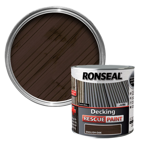 Ronseal Decking Rescue Paint 2.5L English Oak