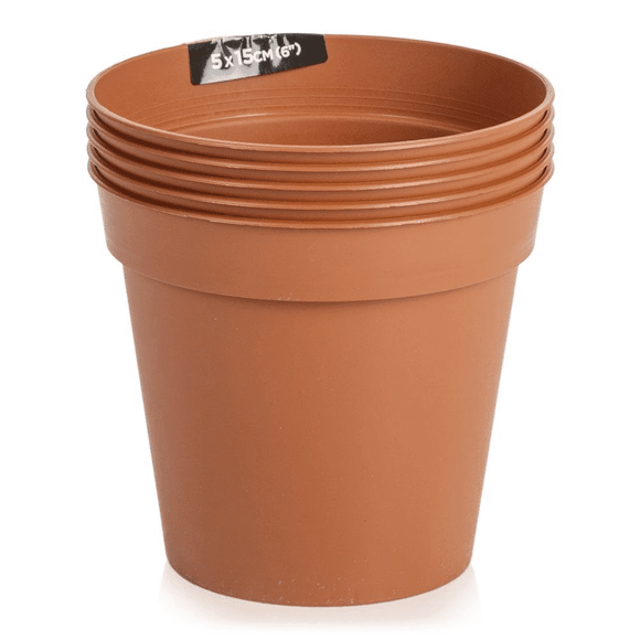Sankey Flower Pots 5-Pack Terracotta 10cm