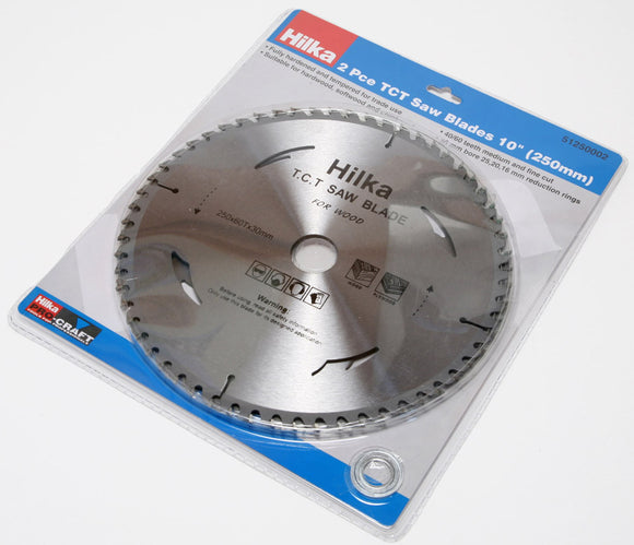 Hilka 2 pack TCT Saw Blades 10 Inch 250mm