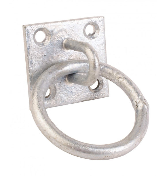 Perry Galvanised Chain Ring on Plate 50 x 50mm