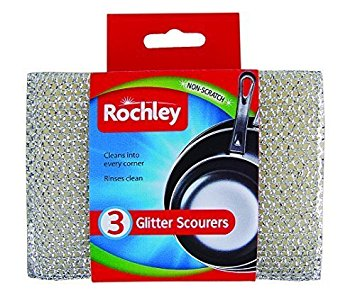 Rochley Glitter Scourers 3 Pack