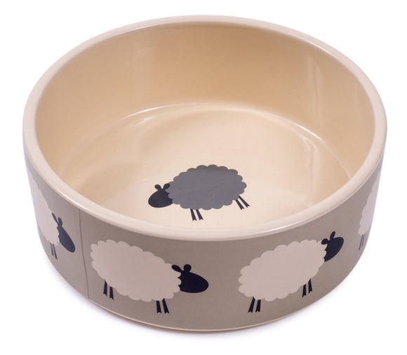 Petface Sheep Print Ceramic Bowl 15cm