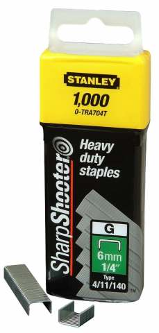 Stanley 1,000 Units 12mm x 1000 Heavy Duty Staple Pack
