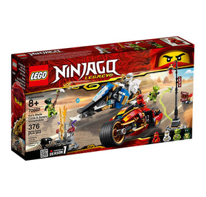 Lego Ninjago Kais Blade Cycle & Zanes Snowmobile 70667