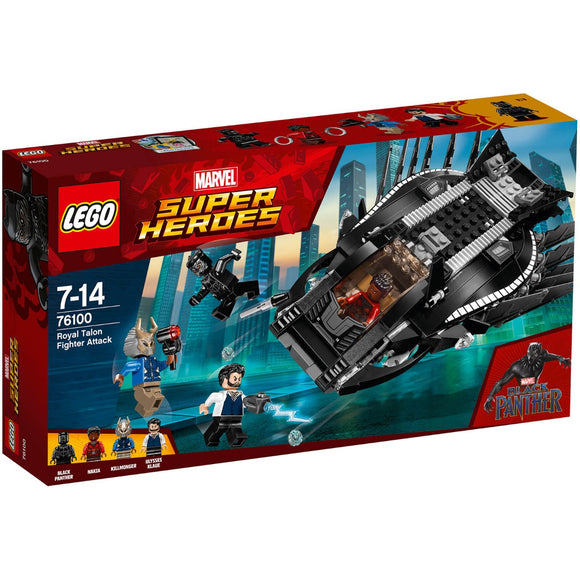 Lego Superheroes Black Panther Royal Talon Fighter Attack 76100