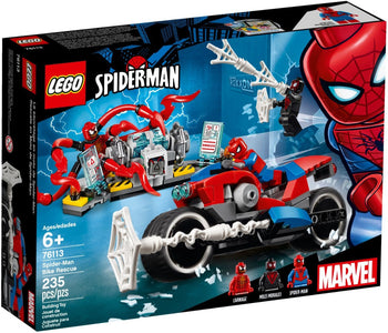You added <b><u>Lego Marvel Super Heroes Spider-Mans Bike Rescue 76113</u></b> to your cart.