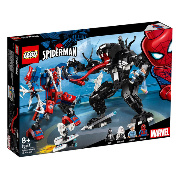Lego Marvel Super Heroes Spider Mech vs Venom 76115