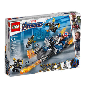 You added <b><u>Lego Marvel Avengers Captain America Outriders Attack 76123</u></b> to your cart.