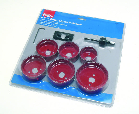 Hilka 8 piece Down Lights Holesaw Set