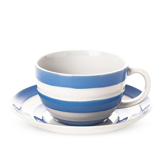 Cornishware Cornish Blue Breakfast Cup & Saucer
