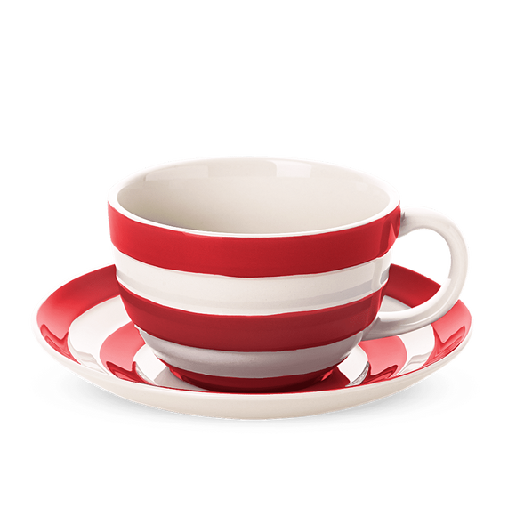 Cornishware Cornish Red Breakfast Cup & Saucer
