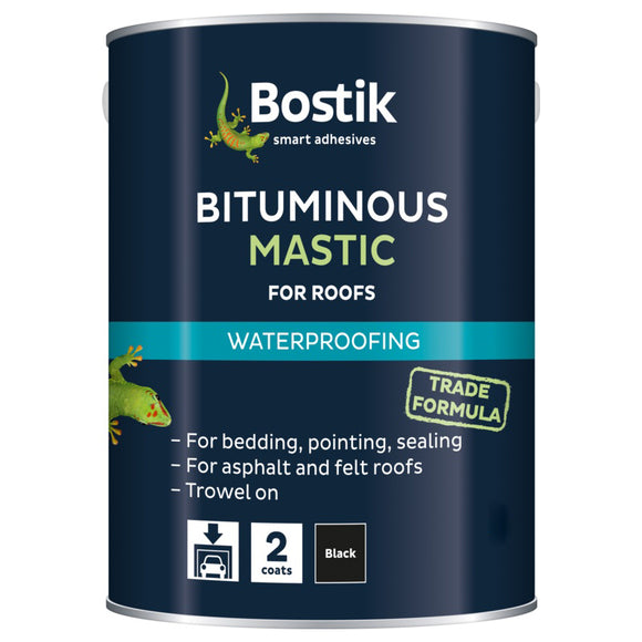 Bostik Bituminous Mastic for Roofs 2.5L