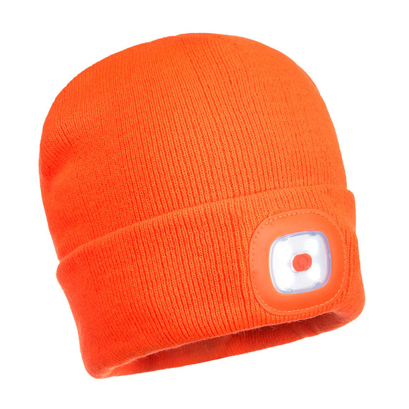 Portwest B029 Beanie LED Head Light USB Rechargeable