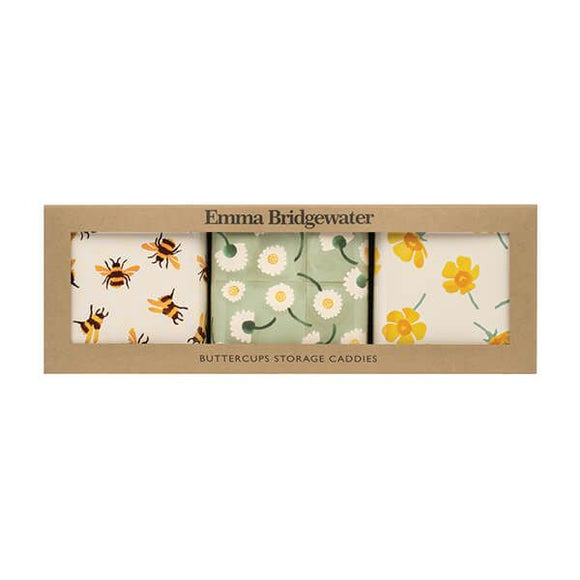 Emma Bridgewater Buttercup Square Caddies Set of 3