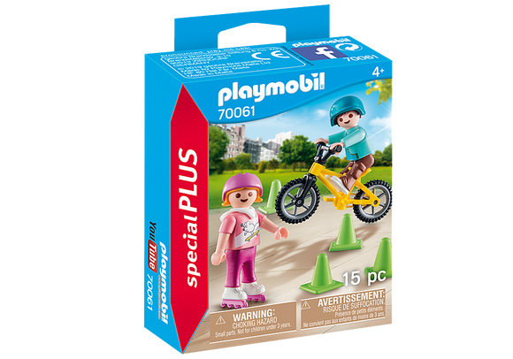 Playmobil Special Plus Children with Bike & Skates