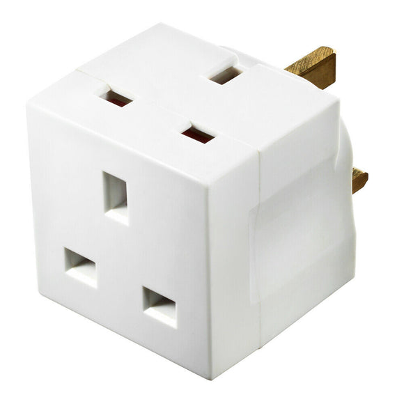 Masterplug MSU2/NK Adaptor 2Way 13A 250VAC