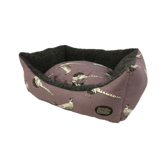 Snug & Cosy Pheasant Heather Print Rectangular Bed