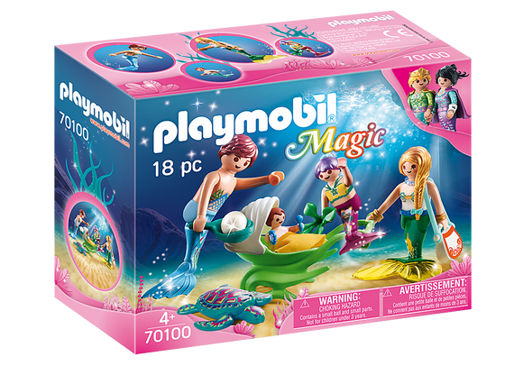 Playmobil Magic Family with Shell Stroller