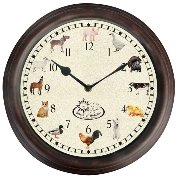 Fallen Fruits Farm Animals Sounds Clock