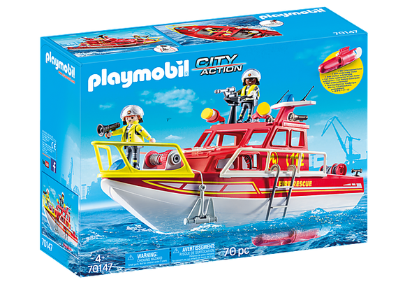 Playmobil City Life Fire Rescue Boat
