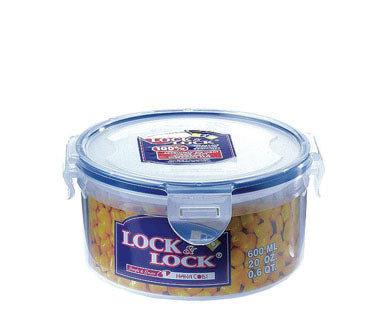 LocknLock Stackable Airtight Container Round 600ml