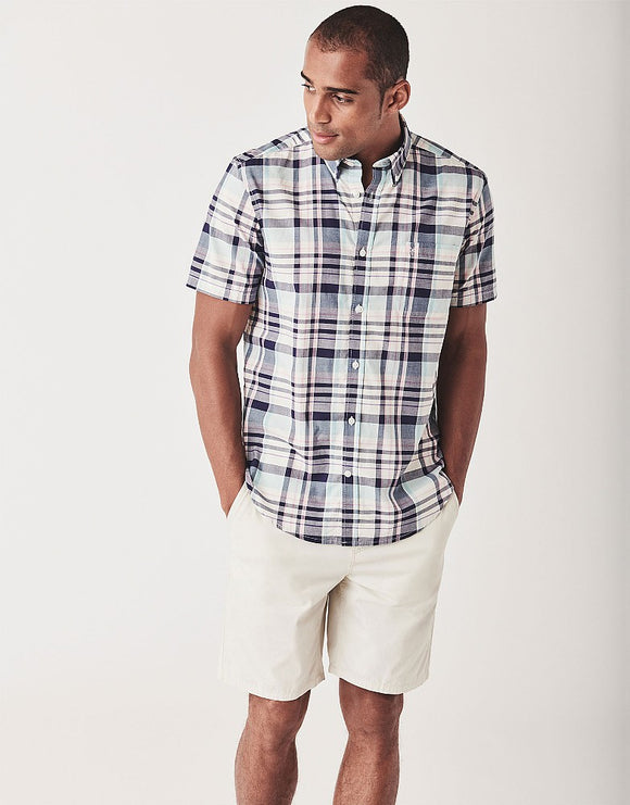 Crew Clothing Bickleigh Short Sleeve Bold Check Shirt