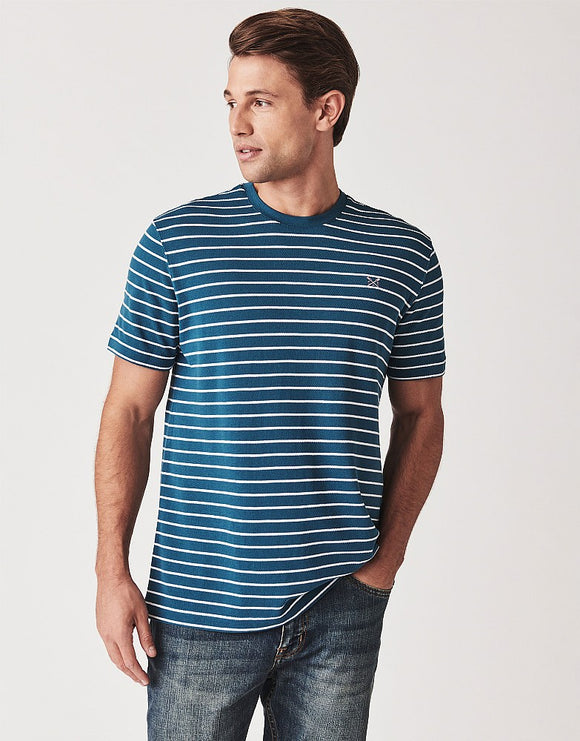 Crew Clothing Marshaw Pique Stripe T Shirt