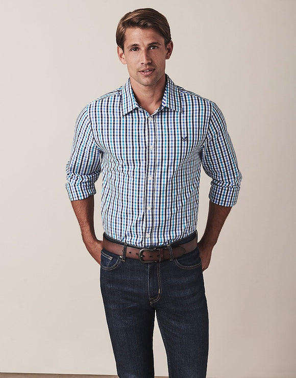Crew Clothing Long Sleeve Classic Fit Gingham Shirt