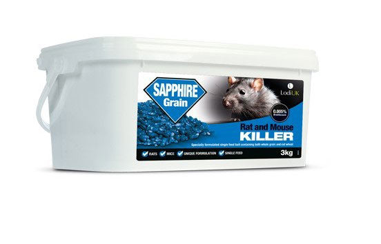 Lodi Sapphire Rat Bait Grain Mix of Whole & Cut Wheat 3kg