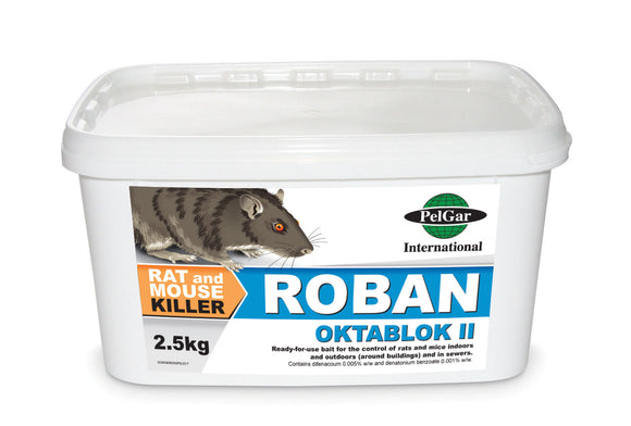 Roban Rat Bait Oktablok II Blocks 2.5kg